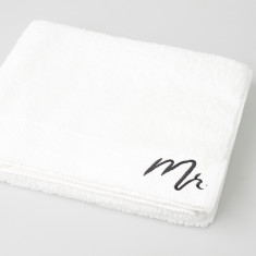 Typography Mr Embroidered Bath Towel