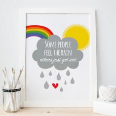 Rain & rainbows print