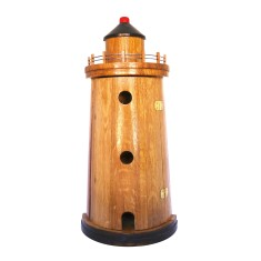 Lighthouse key holder in recycled timber with a natural varnish finish