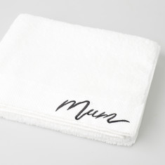 Mum Embroidered Bath Sheet