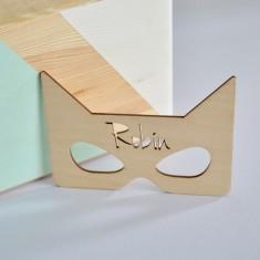 Personalised Kids' Super Hero Mask Bedroom Door Sign