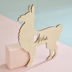 Personalised Kids' Llama Bedroom Door Sign