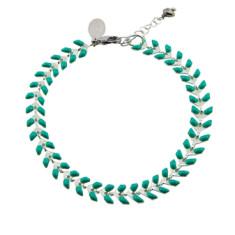 Aqua chevron enamel bracelet