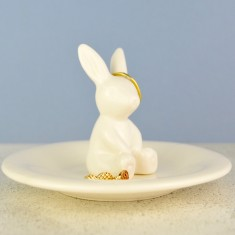 Personalised Bunny Rabbit Ring And Jewellery Dish