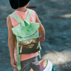 Toddler backpack in pass the lime