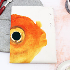 Goldfish tea towel
