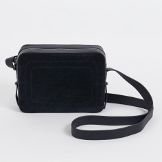Dylan ink navy leather crossbody bag with built in phone charger