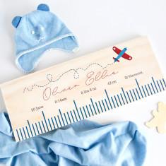 Personalised birth details ruler - In flight/Plane