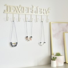 Personalised Large Jewellery Hooks And Necklace Hanger