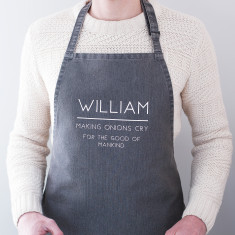 Personalised Name BBQ Apron