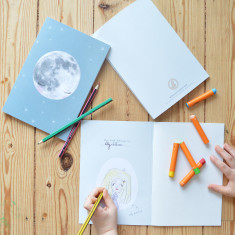 Premium Recycled Moon Notebook for Kids