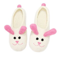 Women's Pink Bunny Felted Slippers
