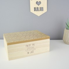Enjoy the Little Things Geometric Inspired Jewellery Box