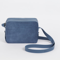 Dylan dusty blue crossbody bag with built in phone charger