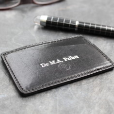 The Alberi Personalised Leather Card Holder