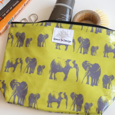Elephant family large toiletry bag