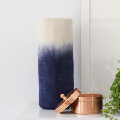 Ombre felt vase sleeve