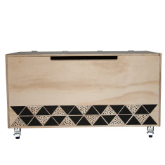 Tribal Triangles Toy Box