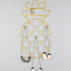 Pineapple Gold Wire Necklace Hanger & Hooks
