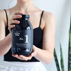 Blend No. 1 English Breakfast Organic Loose Leaf Tea Amber Jar 400g