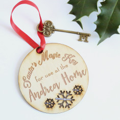 Personalised Santa's magic Wooden Christmas key