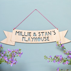Personalised Wooden Hanging Sign