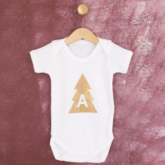 Personalised Christmas Tree Baby Grow