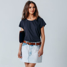 Max Cotton Tee In Charcoal