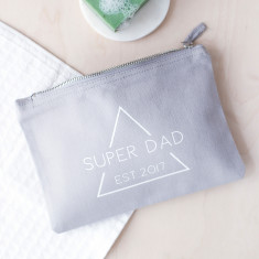Personalised Super Dad Wash Bag