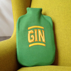Gin hot water bottle cover (various colours)
