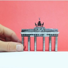 MONUmini stainless steel architecture model - Brandenburg gate