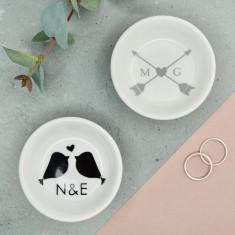 Personalised Lovers Mini Ring & Trinket Dish