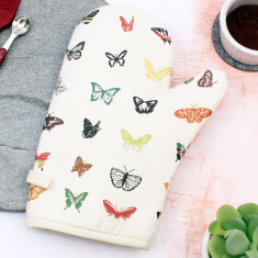 Natural Butterfly Oven Mitt