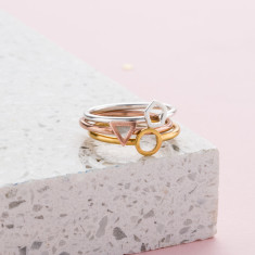 Mini Geometric Stacker Ring