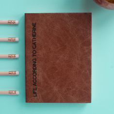 Sideline personalised leather diary - 2017