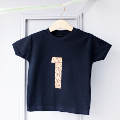 Personalised Kids Age Celebration Number T-Shirt
