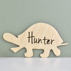 Personalised Kids' Turtle Bedroom or Nursery Door Sign or Art