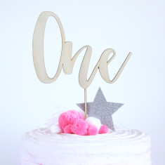 Wooden number birthday decoration/cake topper