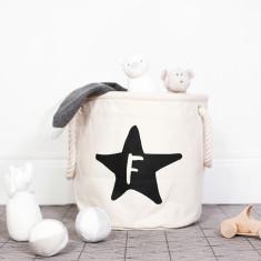 Personalised Star Initial Nursery Basket