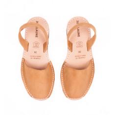 Leather avarcas sandals
