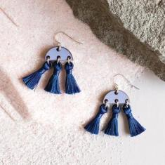 Rogue Tassel Earrings - Midnight Blue