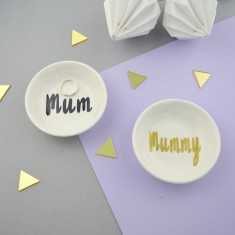 Mum or Mummy Porcelain Ring Dish