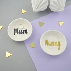 Mum or Mummy Porcelain Ring Dish