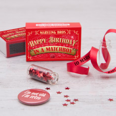 Personalised Happy Birthday Message In A Matchbox