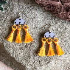 Rogue Tassel Earrings - Sun Yellow