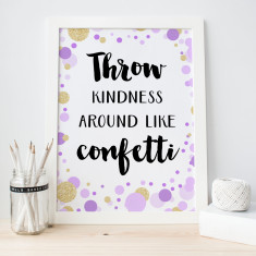 Confetti kindness print
