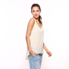 Carousel Sheer Stripe Tank in Lime