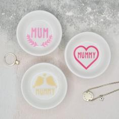 Cute Mum or Mummy Porcelain Ring Dish