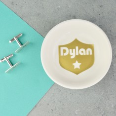 Personalised Cufflink & Mens Jewellery Dish