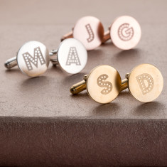 Personalised Letter In Lights Cufflinks